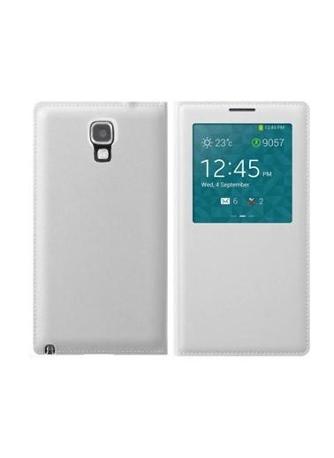 Microsonic View Cover Delux Kapaklı Kılıf Galaxy Note 3 Neo Akıllı Modlu Beyaz Renkli